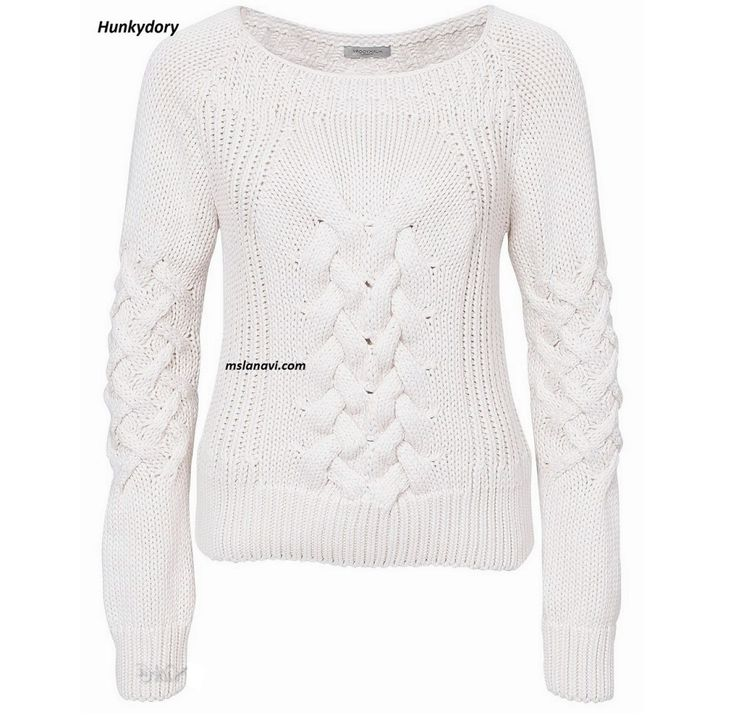 Вязаный пуловер спицами от Hunkydory - СХЕМЫ #ВязаниеСпицами http://mslanavi.com/2016/05/vyazanyj-pulover-spicami-ot-hunkydory/