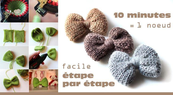 g dane les noeuds en tricotin addi express g ant de chez diy crochet tricot. Black Bedroom Furniture Sets. Home Design Ideas