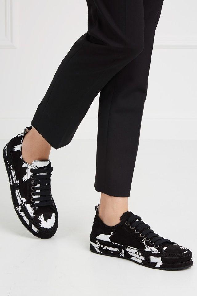 Кожаные кеды Ann Demeulemeester  - Кожаные кеды из новой коллекции бельгийского бренда Ann Demeulemeester в интернет-магазине модной дизайнерской и брендовой одежды