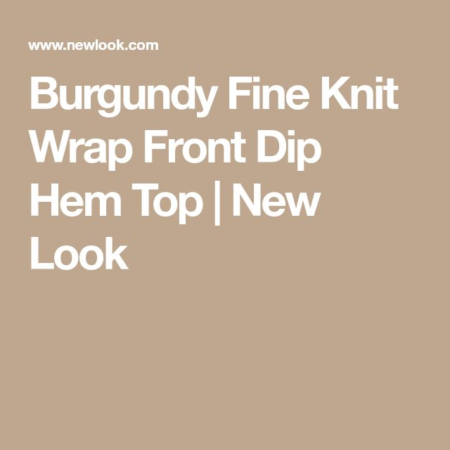 Burgundy Fine Knit Wrap Front Dip Hem Top | New Look