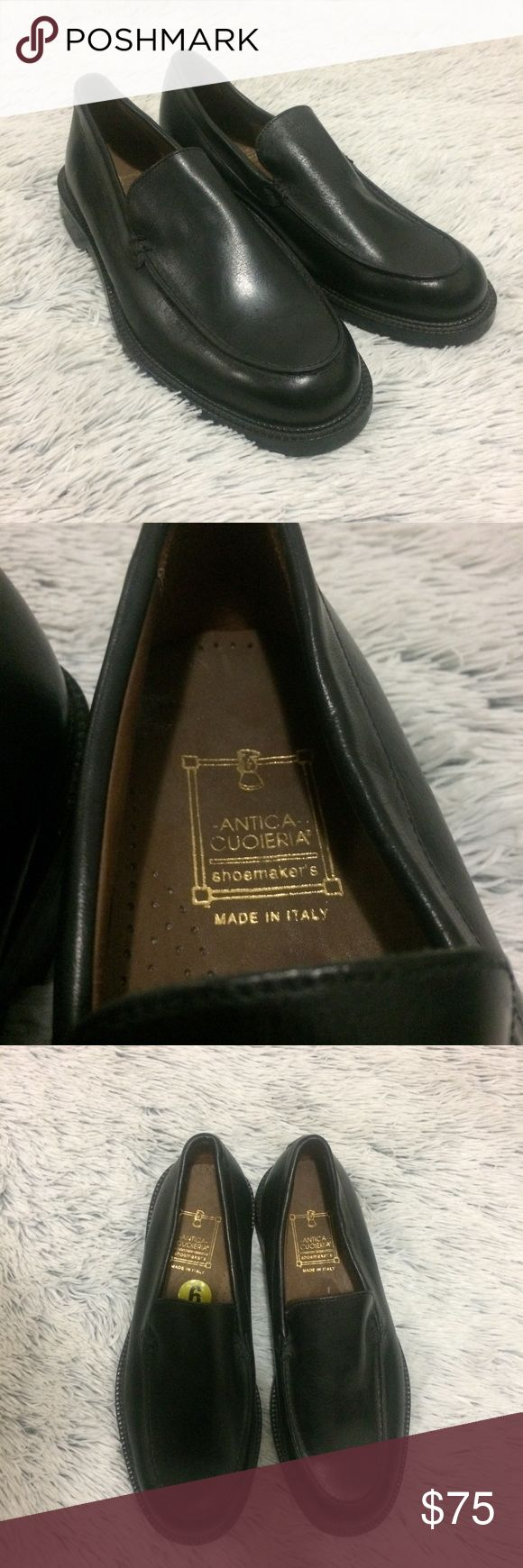 Host Pick!!! Men's Italian Slip-On Loafers Absolutely amazing loafers! Italian leather, made in Italy, no flaws or stains, still has clean size tag on the inside. Size 9. Would make a great gift for your stylish bf/hubby! Soles have a bit of wear, but it just seems to be wear from sitting in the closet since they've never been worn. Plus, leather soles can last and Last and last  I'm not sure what the original price was for these, but they were purchased on sale for $118. Smoke free home…