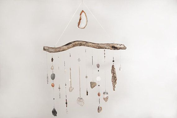 Earthy Toned Crystal Wall Hanging Reserved For Perla Etsy Hanging Crystals Diy Diy Crystals Crystal Wall