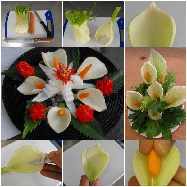 How to DIY Fennel Flower Garnish for Salad tutorial and instruction. Follow us: www.facebook.com/fabartdiy