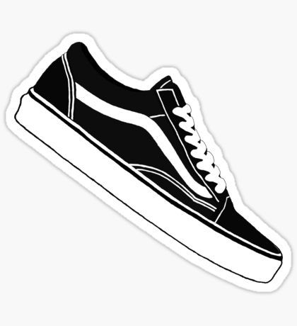 Vans Old Skool Low Top Black White Sticker 79f7636037e3