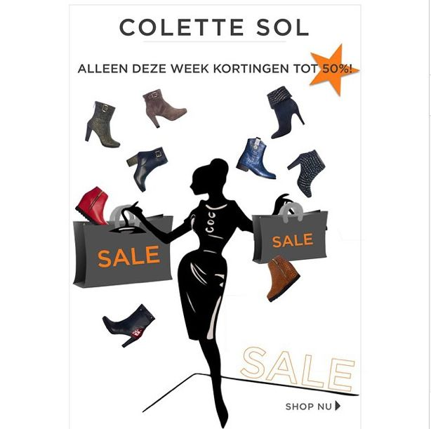 Kortings Actie! Follow colette_sol on Instagram