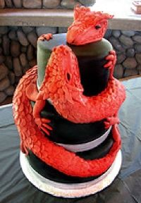 3D Dragon-shaped cakes, dragons on castle cakes, even baby dragons and eggs; These cakes are great works of cake decorating art - and YES, they...
