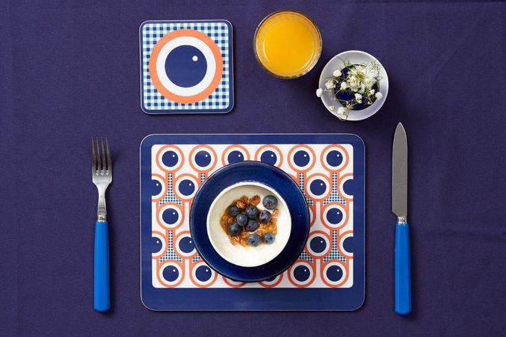 Hokolo blueberries placemat coaster