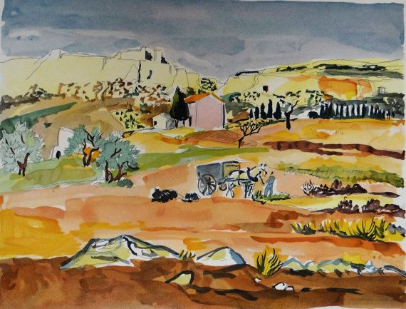 Yves Brayer lithographie signée  paysage par MarieArtCollection