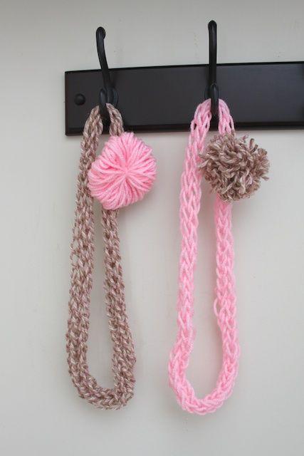 Finger Knit Hawaiian Yarn Lei Tutorial