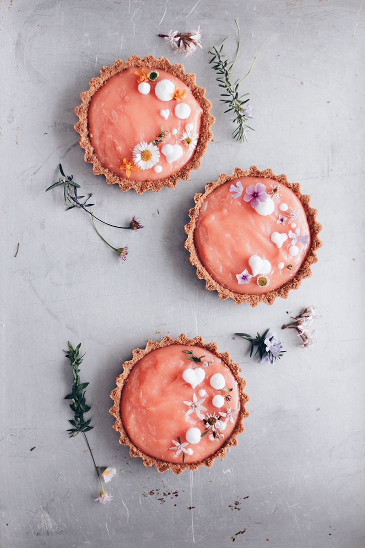 Grapefruit Tartlets with Milk & Honey Crust