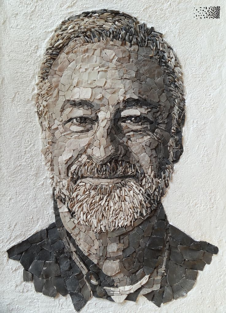 Portrait of my father, by Anouk Rosenhart, www.rosenhartmosaics.com