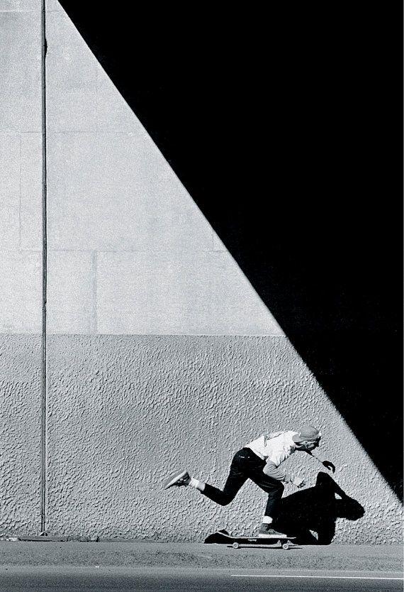 The Push Tod Swank 80s Skateboard Photograph Print – Grant Brittain Skate Photographer – 11X14 and 18×24 Archival Skateboard Print