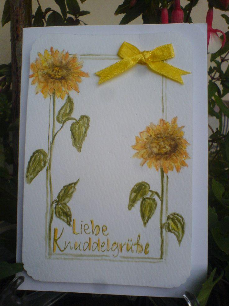 Aquarell Sonnenblume/Sunflower Card