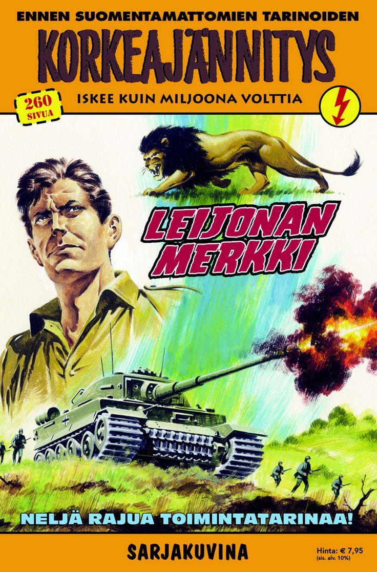 Leijonan merkki nyt lehtipisteissä! #sarjisparhaus #Korkkari #sotaviihde