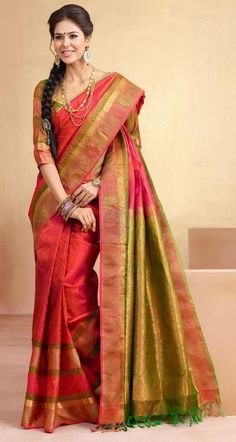 9 Trending Kanchipuram Bridal Silk Sarees for Your Big Day!!! #Ezwed #BridalSilkSarees #KanchipuramSarees #WeddingSarees