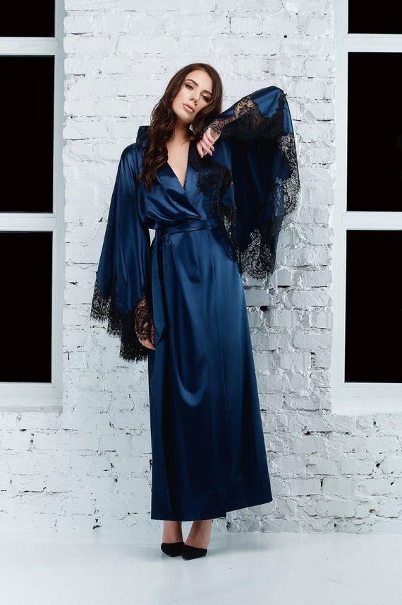 Kimono Long Satin Robe Kimono Robe Long Floor Length Robe  db75b8ae0