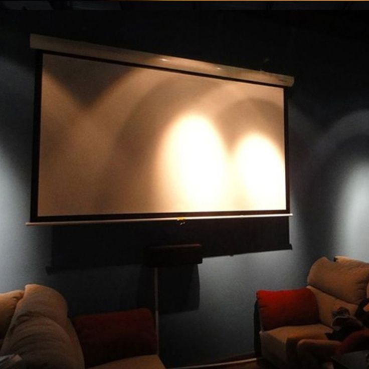 72 Inch 16:9 High Contrast Manual Projector Screens Pull