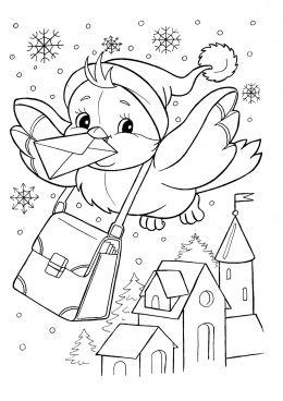 Картинки по запросу рисование раскраска зима | Раскраски ...