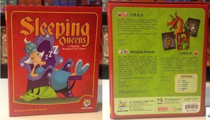 Sleeping Queens Logic Board Game Card Children's Educational Toys Board Games For Children Send English Explanation