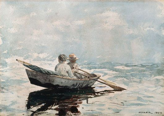 Famous Painting  Girls In Row Boat