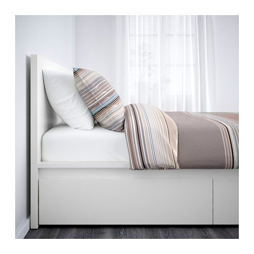 Malm Bettgestell Hoch Mit 4 Schubladen Weiss Ikea Deutschland Verstellbare Betten Bettgestell Bett Lagerung
