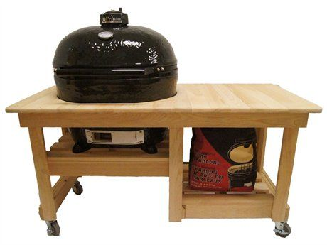 Primo Oval (400) XL Ceramic Smoker in Cypress Table Top | PRXLTBL2