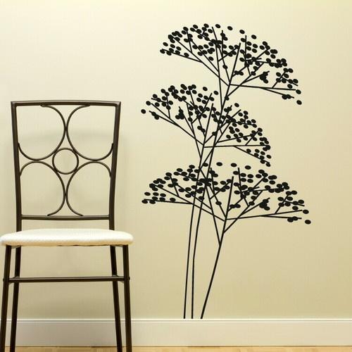 Details about bush tree branch giant wall art sticker - Sticker geant mural ...