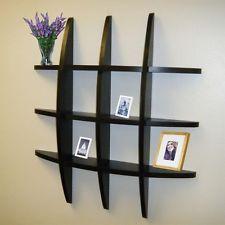 черный дисплей плавающие настенные полки полки сетки для хранения Ledge декор для дома новый