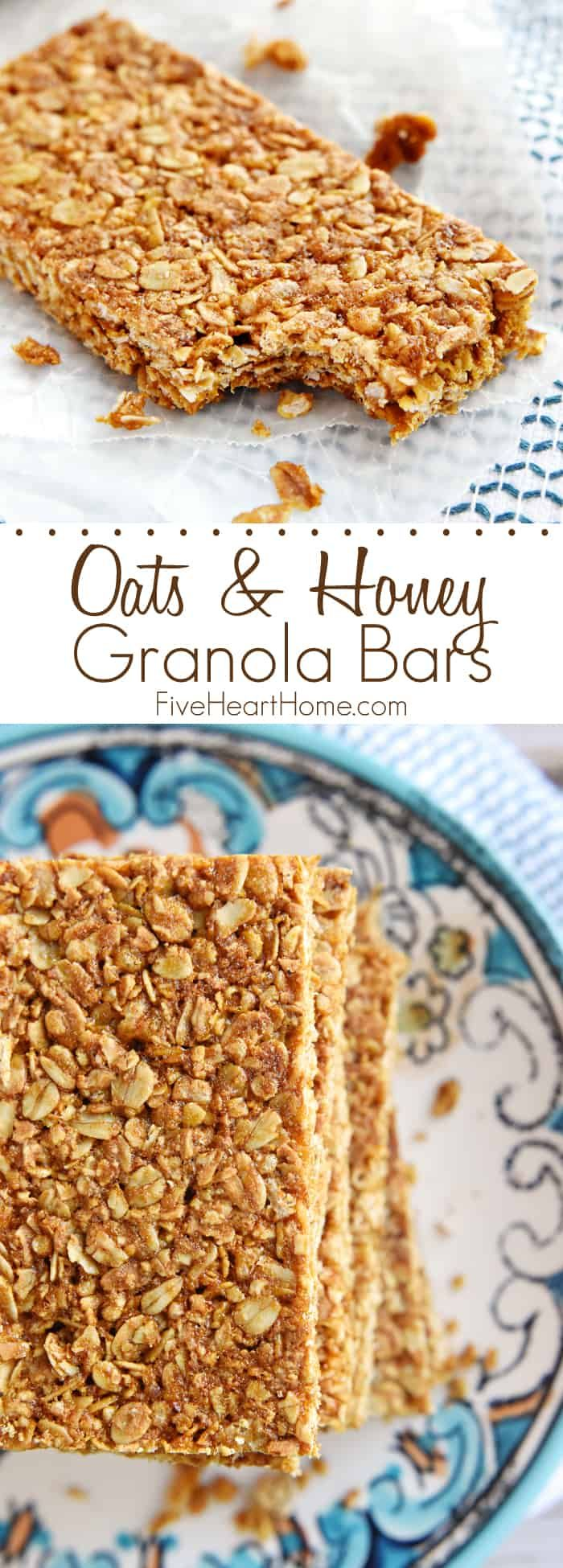 Oats & Honey Granola Bars by FIVEheartHOME