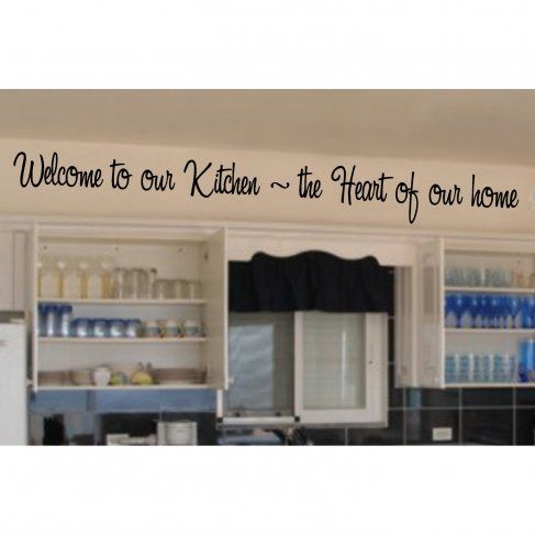 Welcome to Our Kitchen – Vinyl Wall Lettering Words Sticky Art Home Decor Quotes Stickers Decals.$10.57 «Best Decals»