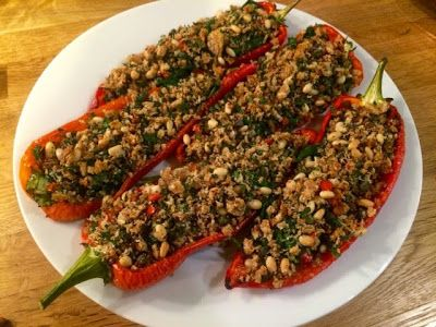 Diary of a Sauce Pot: Spinach Stuffed Romano Peppers