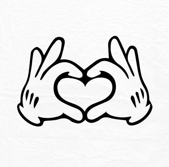 Glove Mouse Hand Heart Love Design Love Svg Disney Heart Hands