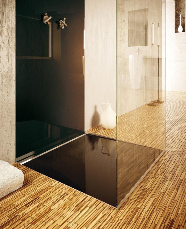Bodengleiche Glas Duschfläche Mit Individueller Farbgestaltung