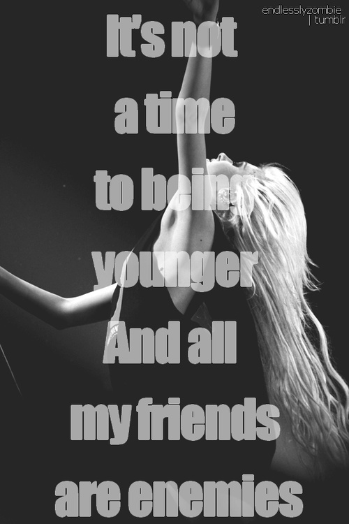 """""""Under the Water"""" by The Pretty Reckless."""