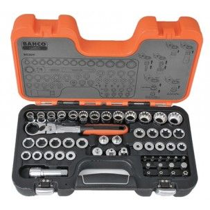 Bahco 53pce Go-Thru Socket Set S530T