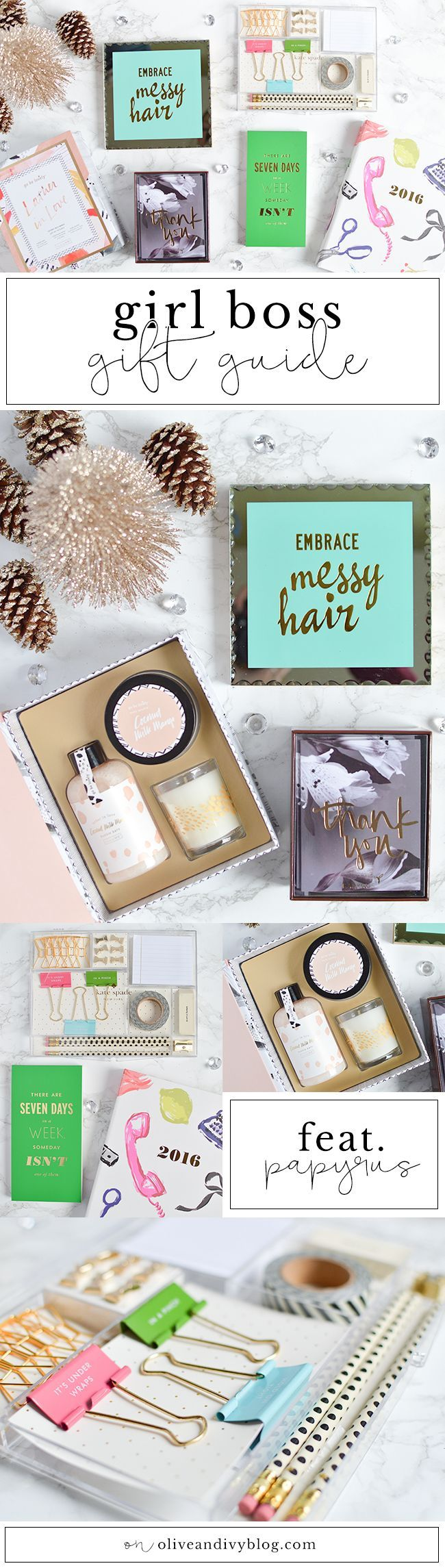 The perfect gift ideas for a fellow GIRL BOSS! | oliveandivyblog.com