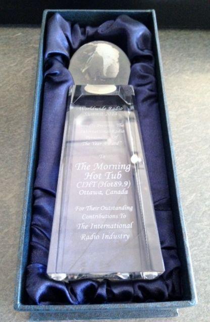 Congrats to Mauler, Rush, Jenni & Josie on their International Radio Personalities Of The Year Award from the Worldwide Radio Summit! Look at that award shine!!