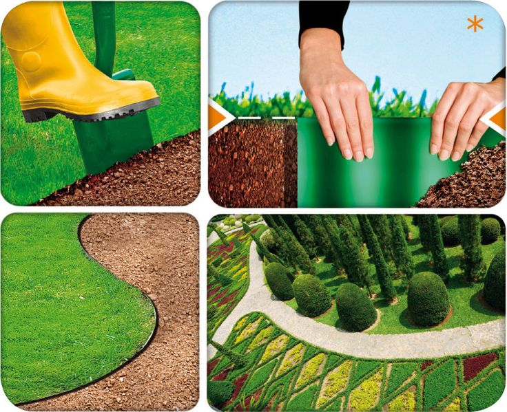 GREEN FLEXIBLE PLASTIC GARDEN GRASS LAWN EDGING EDGE 12CM X 6M BORDER FENCE WALL | eBay