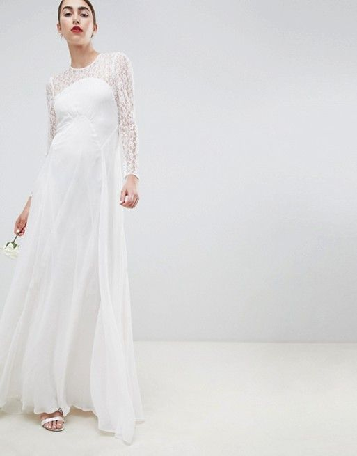 8450d793 EDITION wedding dress with delicate lace | Wedding Dress Lace | Asos ...