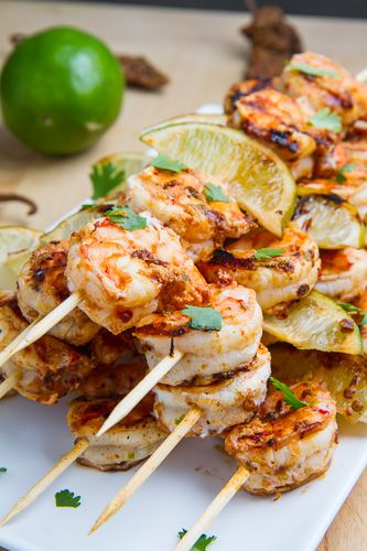 Chipotle Lime Grilled Shrimp from Closet Cooking. #DeliciouslyHealthyLowCarb The idea of combining lime and shrimp together sounds delightful. #Grilling