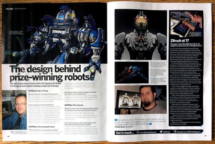 3D Artist Magazine Interview 3DSquirrel Challenge Winners