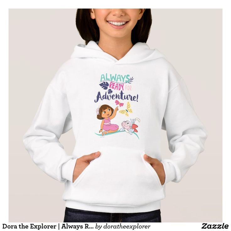 Dora the Explorer   Always Ready For Adventure. T-Shirt. Producto disponible en tienda Zazzle. Vestuario, moda. Product available in Zazzle store. Fashion wardrobe. Regalos, Gifts. Trendy tshirt. #camiseta #tshirt