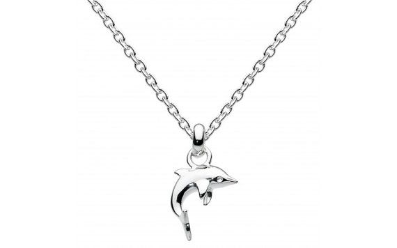 Child's Sterling Silver Mini Dolphin Necklace by SilverButtercups