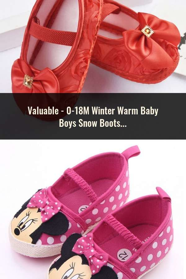 90f21c1be 0-18M Winter Warm Baby Boys Snow Boots Lace up Strip Soft Sole Kids ...