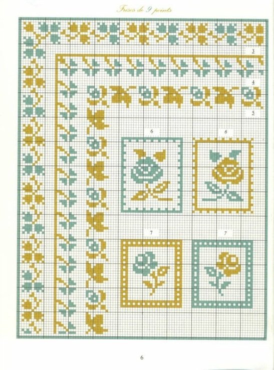 Borders in cross stitch