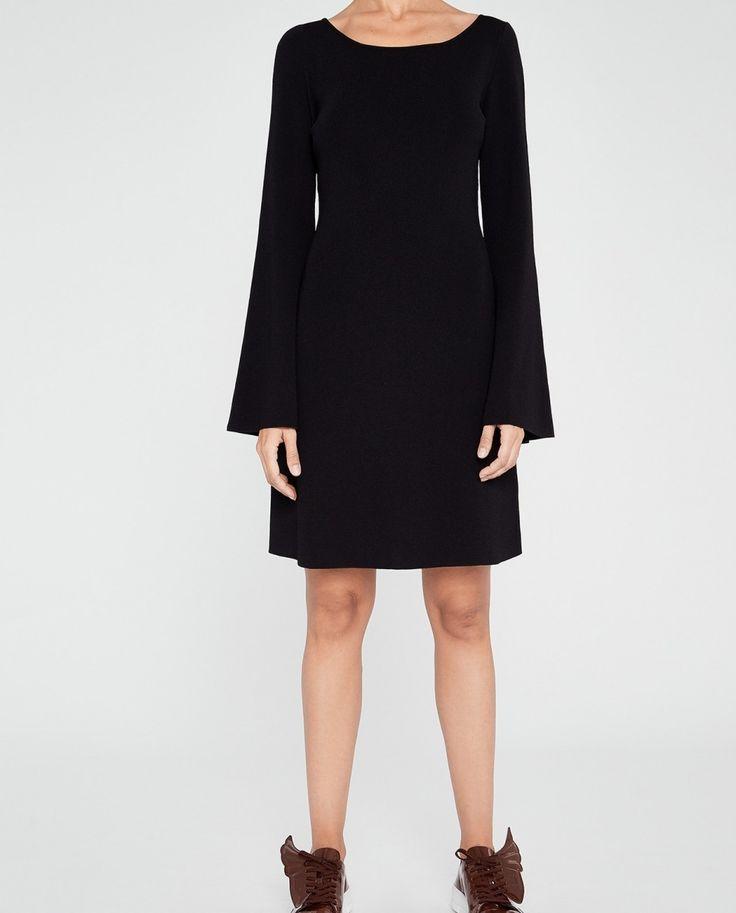 Vestido de mujer U Adolfo  Dominguez de viscosa negro
