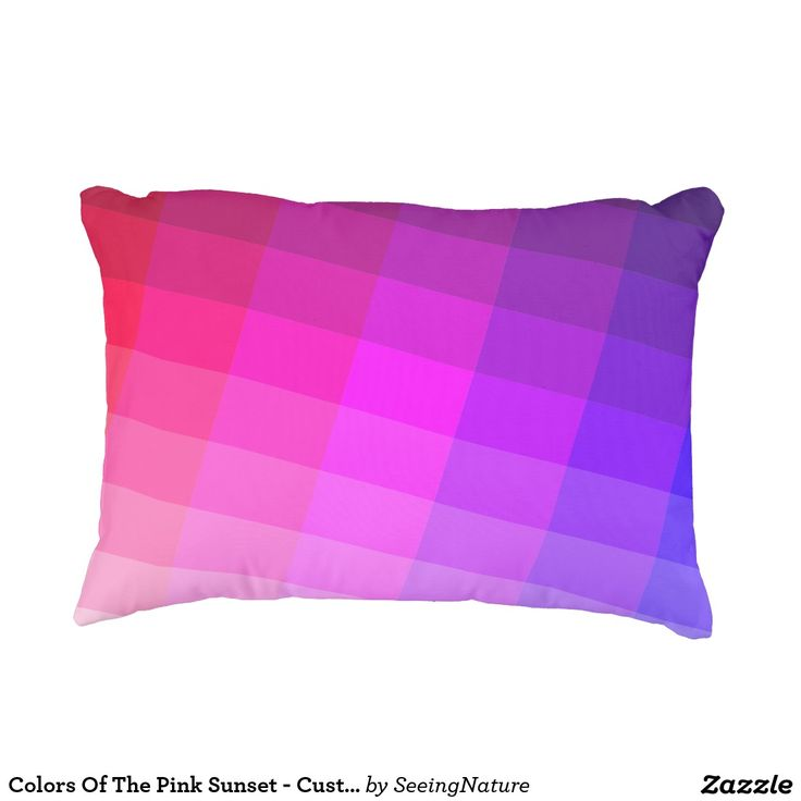Colors Of The Pink Sunset - Customizable Accent Pillow