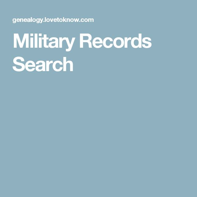 Military Records Search