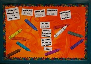Checkout this great post on Bulletin Board Ideas!: Crayon Bulletin Boards, Art Teacher, High School, Art Room, School Ideas, Crayons, Bulletinboards, Classroom Ideas