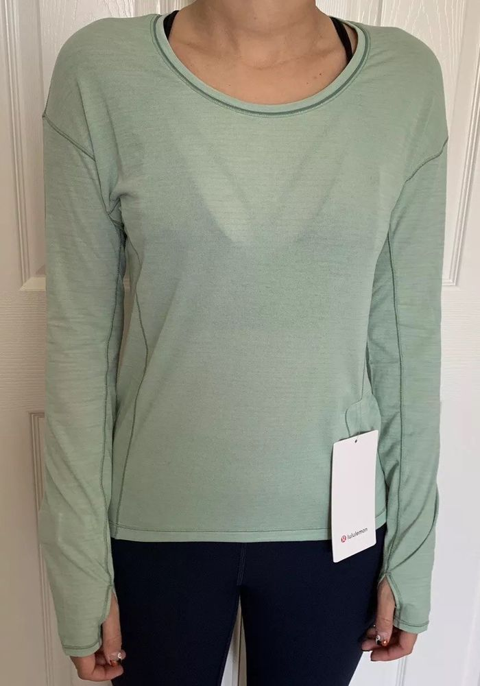 32ef754bd8 Lululemon Size 2 Sweat Embrace Long Sleeve Green HOPG Run LS Swiftly Locano  NWT #fashion #clothing #shoes #accessories #womensclothing #activewear  (ebay ...